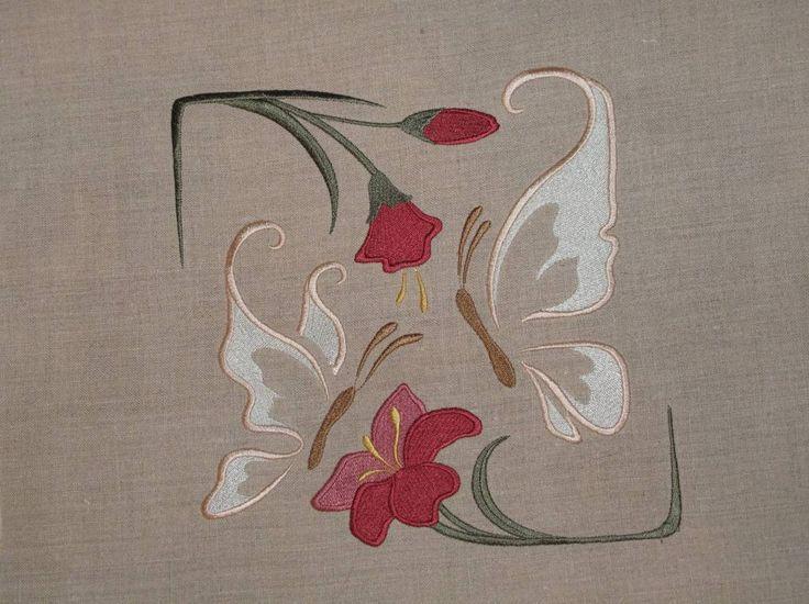 Floral free standing lace edging machine embroidery set - Google Search - Google'da Ara