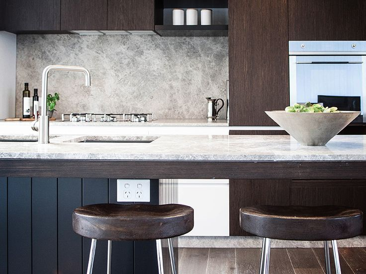 Andalusian apartments in Melbourne using natural stone bench top and splashback