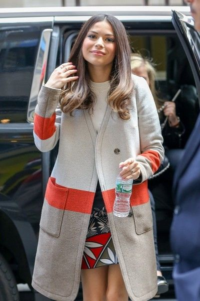 Miranda Cosgrove arrives at 'New York Live.'