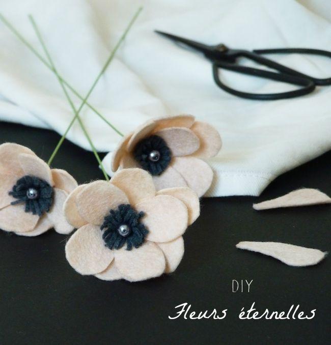 Découvrez dans ce billet un diy pour réaliser des fleurs en feutrine histoire de les rendre éternelles. C'est simple et ça fera son petit effet !