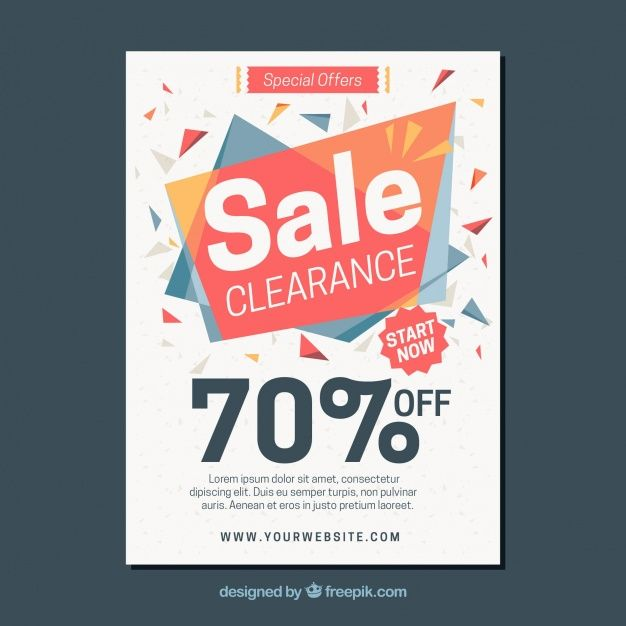Abstract sales brochure Free Vector