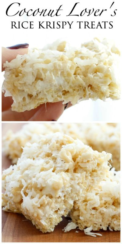 Coconut Lovers be warned, this rice krispy treat is going to star in your food daydreams for years to come. I adore coconut and I also LOVE a great rice krispy treat, so this combination is pretty much...