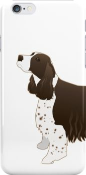 english springer spaniel basic breed silhouette by tripoddogdesign