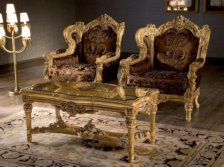 Best of Aristide Armchairs and Coffee Table by Silik · Classic FurnitureAntique Photos -  Baroque sofa Set Picture
