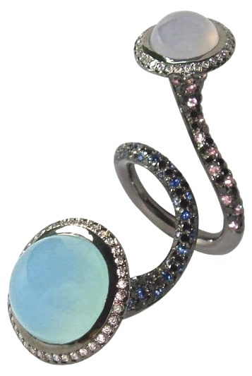 Sapphire & Blue Moonstone RIngColors Rings, Bling, Sapphire Rings, Jewellery Trends, Moonstones Rings, Elk Berre, Accessories, Jewelry Rings, Colours