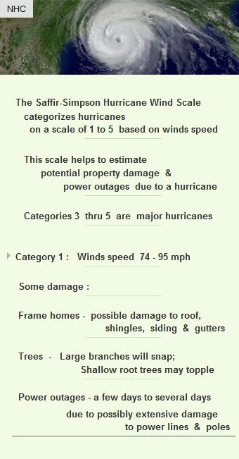 Saffir-Simpson hurricane wind scale categorizes hurricane from 1 to 5 #Funding #VC #startup http://arzillion.com/S/evRDkP