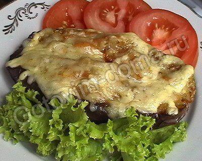 рецепт Баклажаны фаршированные овощами  // рецепты с фотографиями