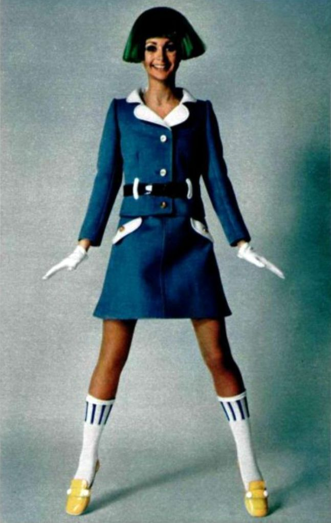Courrèges 1969 - I wore knee socks all through high school and was sad when I had to stop in my 20s.