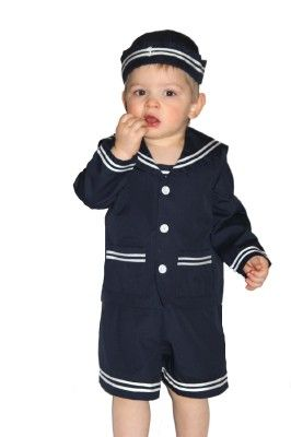 Baby Toddler Boys Nautical Sailor Short Suit Set with Hat $ 24 97 Prime. out of 5 stars 3. XM Nyan. May's Baby Toddler Boys Sailor Stripe Romper Marine Navy Romper Onesie Outfit. from $ 12 99 Prime. out of 5 stars Bello Giovane. Baby Toddler Boys Nautical Sailor Outfit Suit 5 Piece Set.