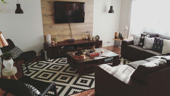 Our scandi industrial formal living room
