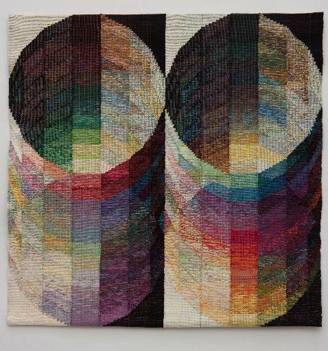 """Judith Poxson Fawkes   Marriage II, 2011  linen inlay tapestry. 43"""" x 43"""" #UOonCampus #UOContest"""