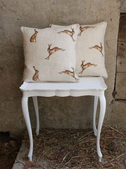 "Linen ""Hare"" Fabric ~ Fudge | Peony and Sage Fabrics"