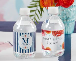 Personalized Water Bottle Labels - Botanical - By Kate Aspen