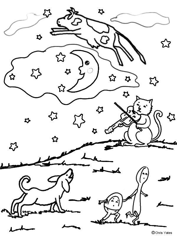 Hey Diddle Diddle Printable Nursery Rhyme Poem for Kids Hey