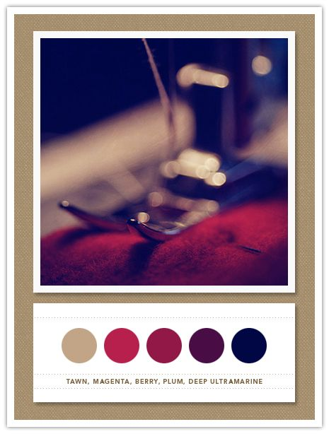 Dramatic and rich. tawn, magenta, berry, plum, deep ultramarine. beautiful color pallette