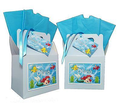 Personalizzata tema Disney La Sirenetta Festa di Compleanno Pranzo Box Scatola Regalo