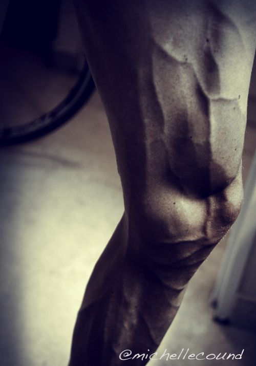 Chris Froome's leg - the power to weight ratio of a Pro cyclist.  #cyclingstrong #chrisfroome #goatman