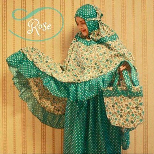 Mukena Cantik Tosca Rose, Mukena Katun Jepang - Muslim Online Shop | Yukbisnis