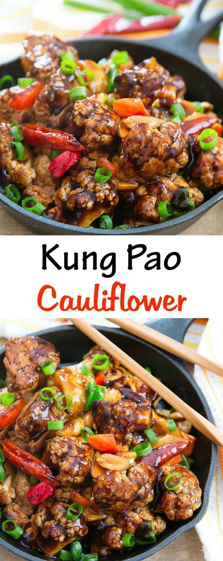 Kung Pao Cauliflower. A healthier version of Kung Pao Chicken!