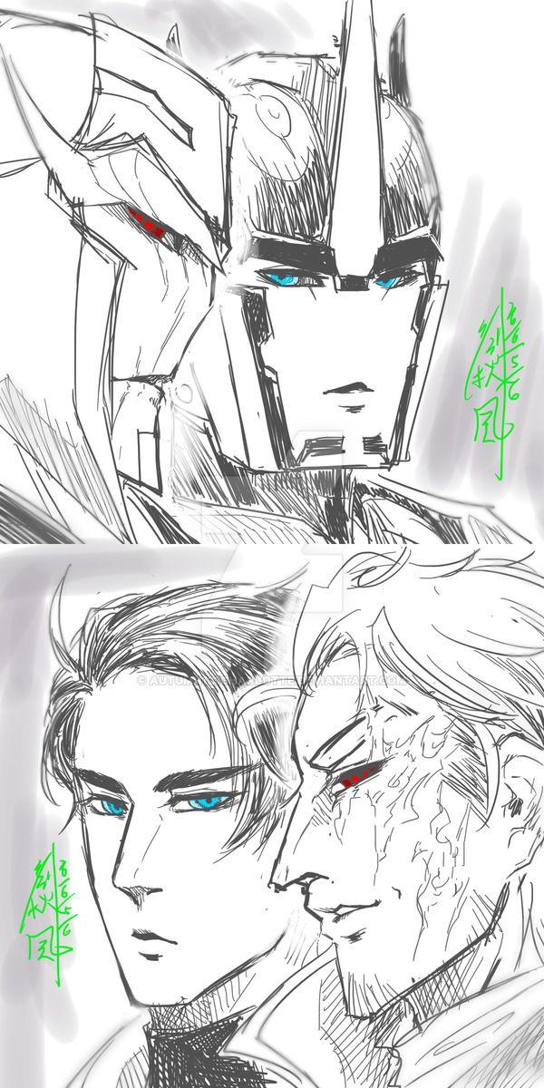 Humanized Optimus and Megatron