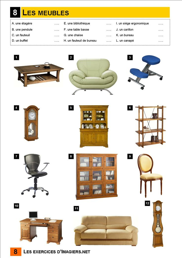 81 best La maison et les meubles -house furniture vocab images on - charges recuperables location meublee