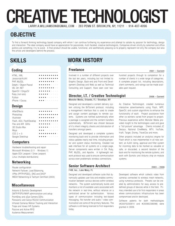 12 best resumes images on Pinterest Resume examples, Resume - resume format for hardware and networking