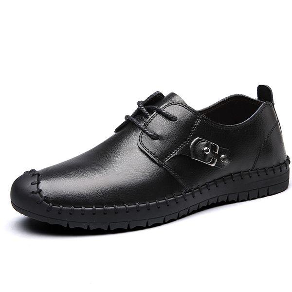 Каждый день особый новый осенне-зимний плюс бархат мужская повседневная обувь кожаная обувь кожаная обувь для вождения ленивый обувь, чтобы помочь отлив