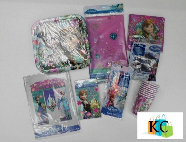 Frozen Party Pack Includes: Table cover, Banner, Invites, punch ball, Balloons, Napkins, Plate, Cups $68.22 Layby Welcome on All Sets.. $10 per week