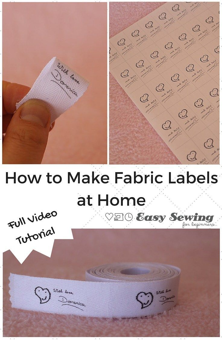 How to make fabric labels at home. This great tutorial was submitted to DIY Crush. Check it out today!