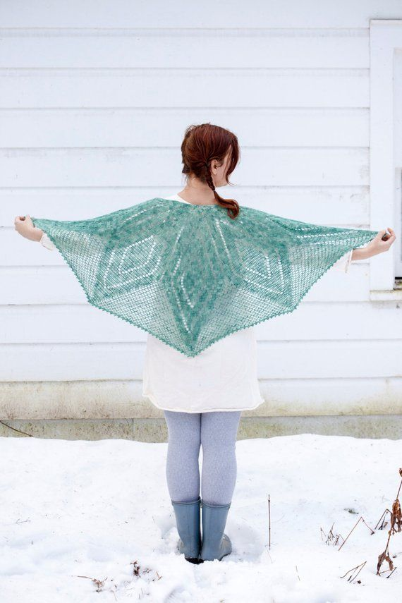 borealis shawl PDF Häkelanleitung