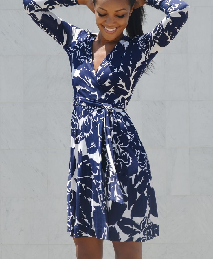 It's all about body language! Brittany Hampton celebrates Summer in the T72 Wrap Dress http://on.dvf.com/1BWZymU