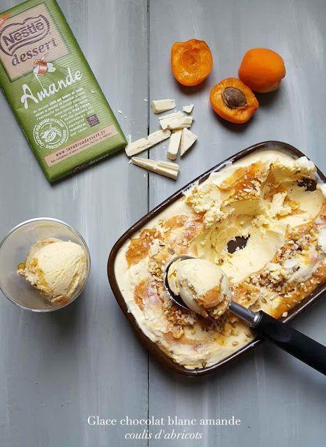Very Easy...Kitchen: Glace au chocolat blanc amande et abricots