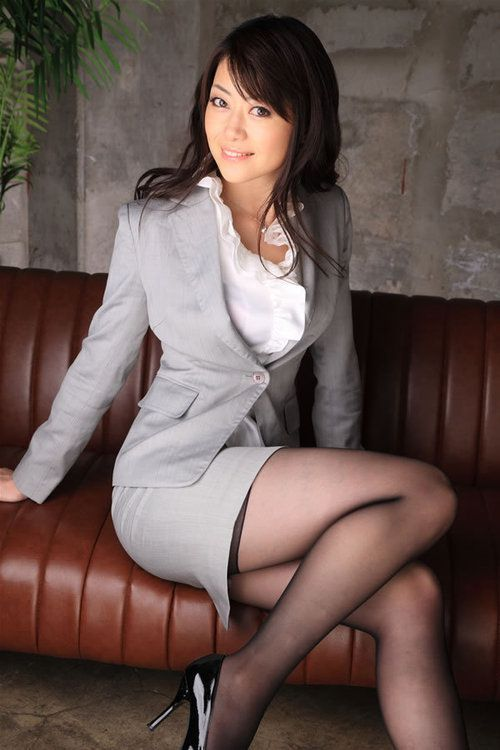 Business suit slut pumps nylons nudes