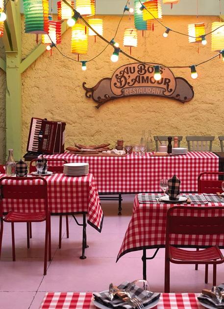 LE JACQUARD FRANÇAIS, créateur et fabricant de Linge pour la Table, la Cuisine et le Bain - Mantel Guinguette