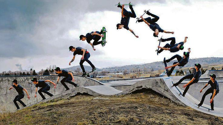 skateboarding stunts