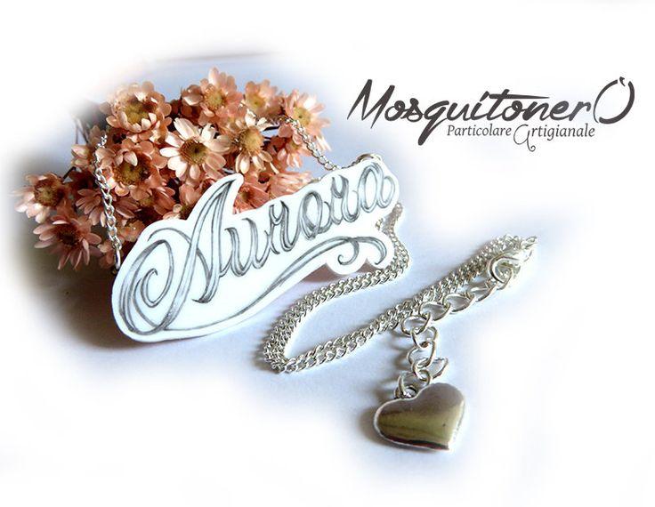 Collana personalizzata con Nome su Shrink, by Mosquitonero Shop, 8,90 € su misshobby.com