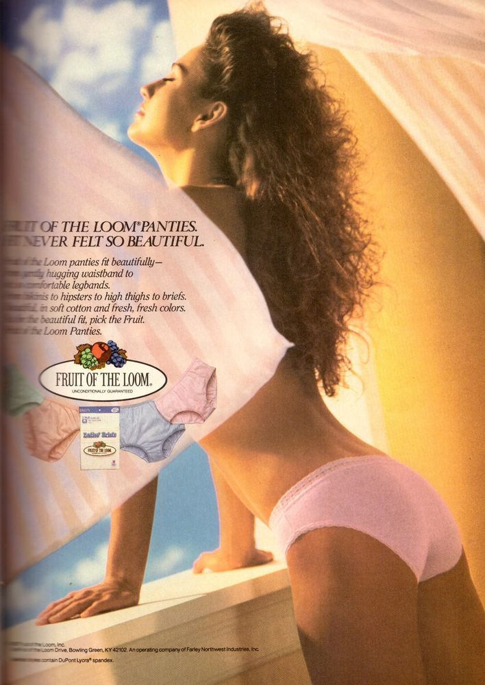 1987 Fruit of the Loom Lingerie Panties Print Ad Vintage Advertisement VTG 80s #FruitoftheLoom