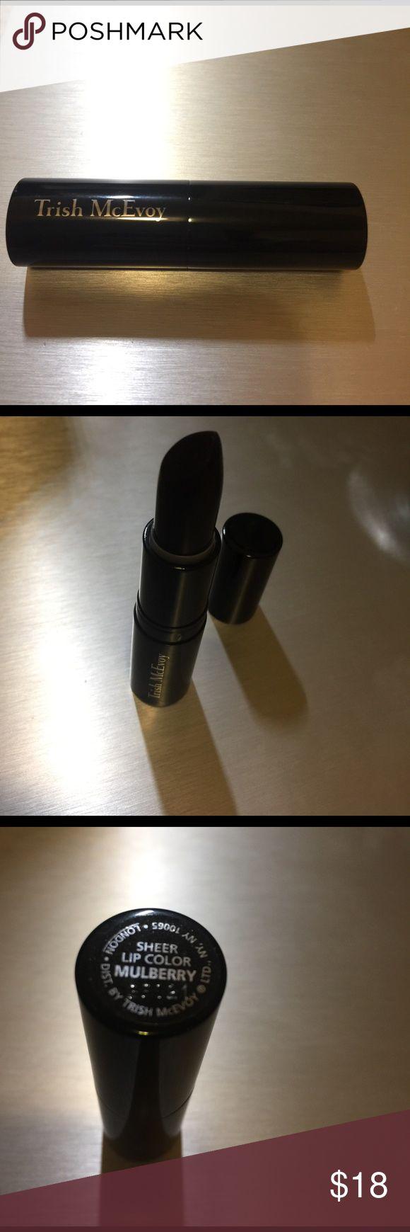 Trish MCEvoy dark plum color lipstick Sheer finish, could be lighter plum or deep grunge color Sephora Makeup Lip Balm & Gloss