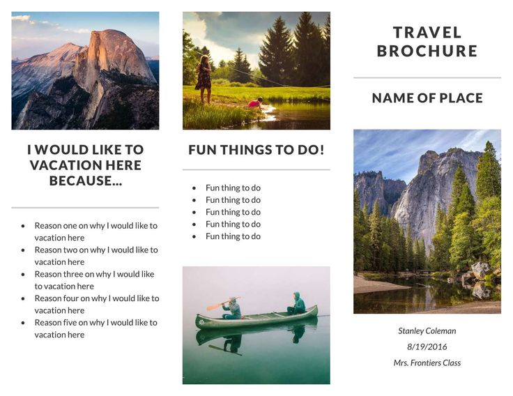23 best Free Brochure Templates images on Pinterest Brochures - travel brochure