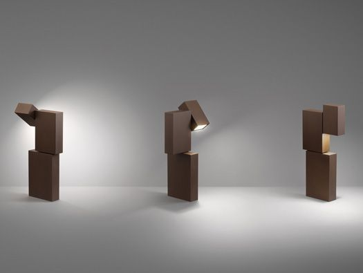 From Vibia, Xucla - an outdoor lighting fixture composed of three boxes.