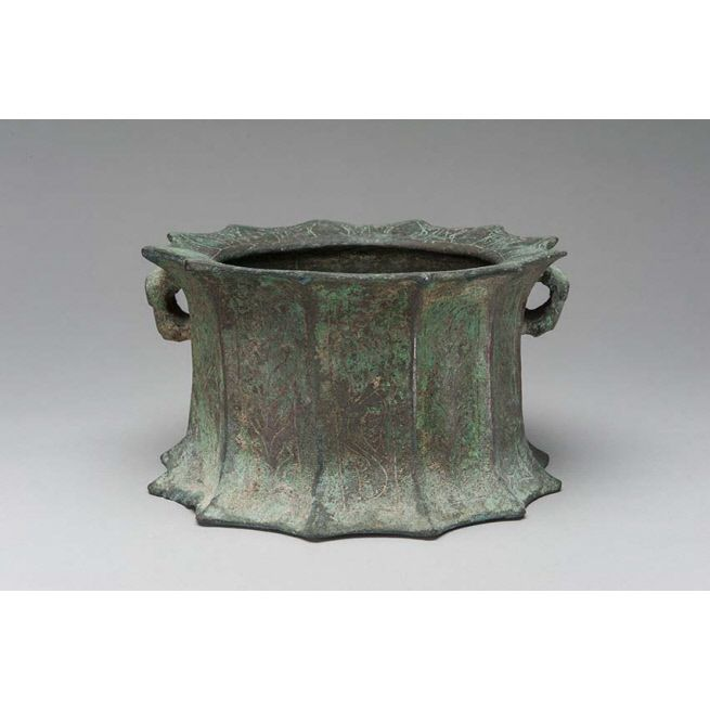 12th century bronze Seljuk vessel (Khurasan?) Doris Duke collection