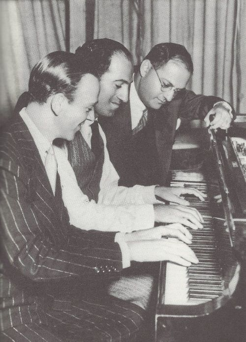 Fred Astaire with George & Ira Gershwin, 1929