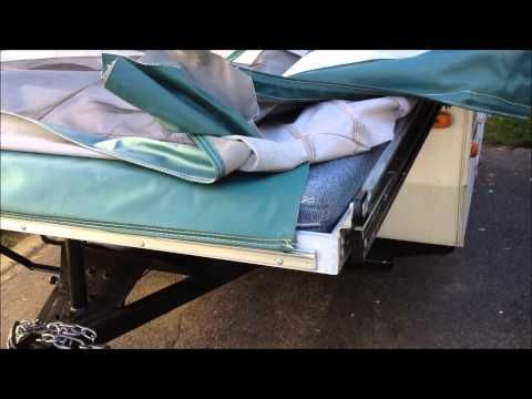 Popup Camper Tent Trailer Canvas Vinyl Repair And Removal