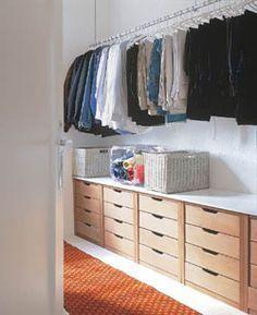 Guarda roupa: faça um closet rápido e barato - Casa