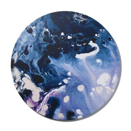 Marbling Circular Canvas