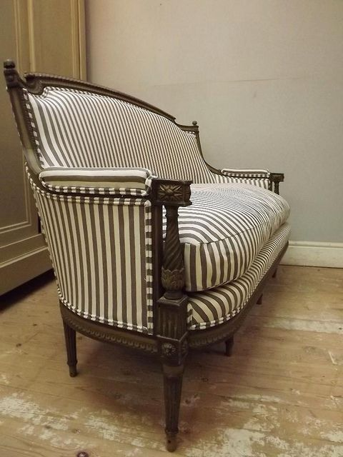 Reupholstered French Antique Sofa Louis XVI Style By Frenchfinds.co.