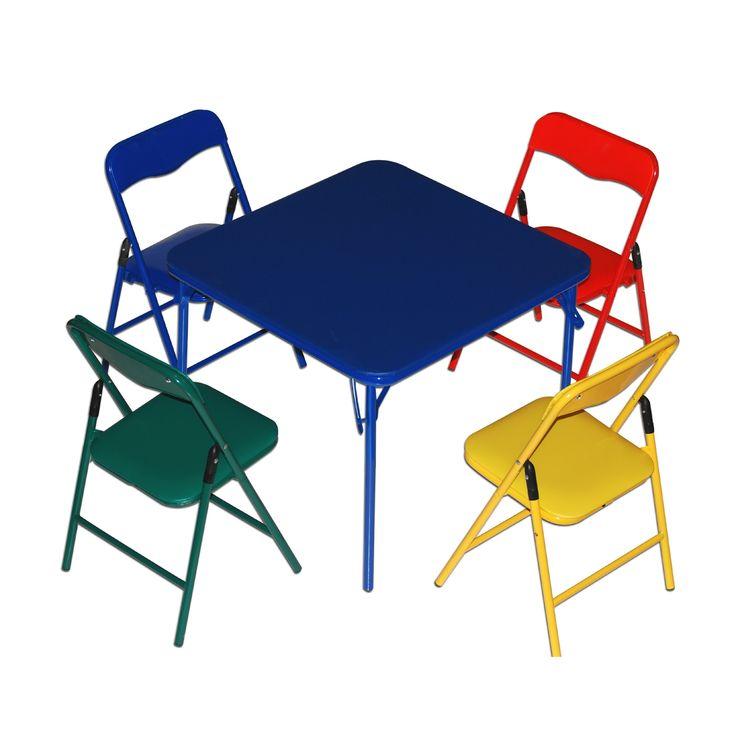 Children'S Folding Table & Folding Chairs Furniture Set By Bracelet Babies