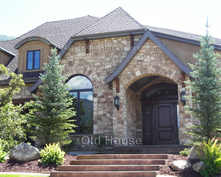 Thin Stone Veneer Exterior Combined With Stucco In A