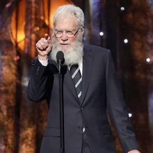 David Letterman showed his fondness for Pearl Jam when he inducted the grunge rockers into the Rock and Roll Hall of Fame Friday night.