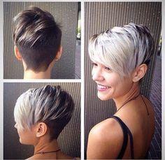 De 2015 kleuren; Wit, zilver, platina, sneeuwblond... 17 extreem trendy korte kapsels - Kapsels voor haar